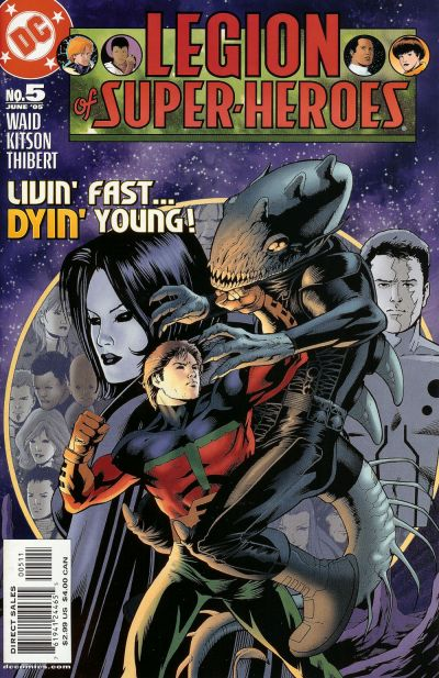 Cover for Legion of Super-Heroes (DC, 2005 series) #5
