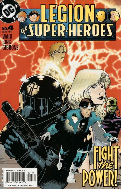 Cover for Legion of Super-Heroes (DC, 2005 series) #4