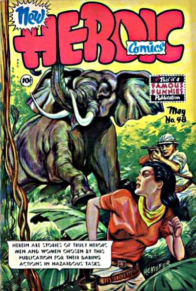 Cover for New Heroic Comics (Eastern Color, 1946 series) #48