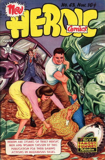 Cover for New Heroic Comics (Eastern Color, 1946 series) #63
