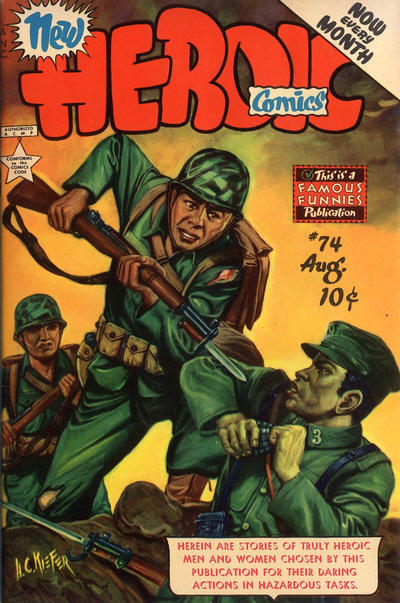 Cover for New Heroic Comics (Eastern Color, 1946 series) #74