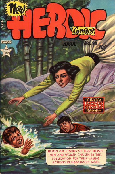 Cover for New Heroic Comics (Eastern Color, 1946 series) #90