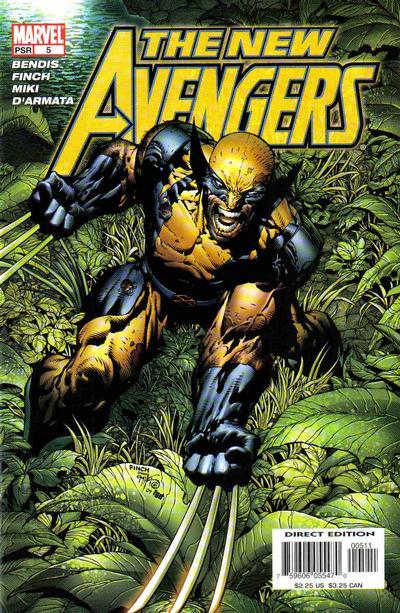 Cover for New Avengers (Marvel, 2005 series) #5 [Adi Granov Cover]