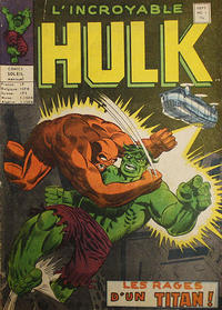 Cover Thumbnail for L'Incroyable Hulk (Editions Héritage, 1968 series) #1