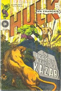 Cover Thumbnail for L' Incroyable Hulk (Editions Héritage, 1968 series) #3