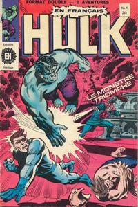 Cover Thumbnail for L'Incroyable Hulk (Editions Héritage, 1968 series) #4