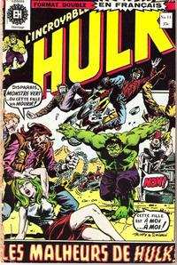 Cover Thumbnail for L'Incroyable Hulk (Editions Héritage, 1968 series) #11