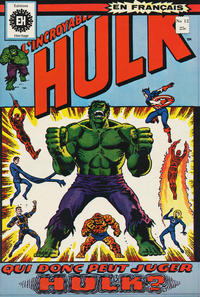 Cover Thumbnail for L'Incroyable Hulk (Editions Héritage, 1968 series) #12