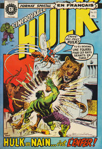 Cover Thumbnail for L' Incroyable Hulk (Editions Héritage, 1968 series) #13