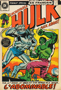 Cover Thumbnail for L' Incroyable Hulk (Editions Héritage, 1968 series) #18