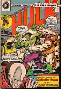 Cover Thumbnail for L'Incroyable Hulk (Editions Héritage, 1968 series) #23