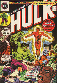 Cover Thumbnail for L' Incroyable Hulk (Editions Héritage, 1968 series) #37