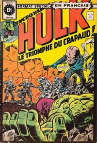 Cover Thumbnail for L'Incroyable Hulk (Editions Héritage, 1968 series) #50