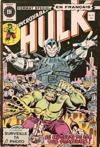 Cover Thumbnail for L' Incroyable Hulk (Editions Héritage, 1968 series) #51
