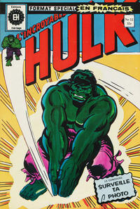 Cover Thumbnail for L'Incroyable Hulk (Editions Héritage, 1968 series) #52