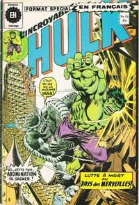 Cover Thumbnail for L' Incroyable Hulk (Editions Héritage, 1968 series) #54