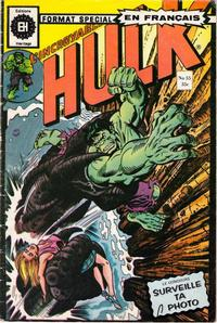 Cover Thumbnail for L'Incroyable Hulk (Editions Héritage, 1968 series) #55