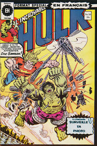 Cover Thumbnail for L' Incroyable Hulk (Editions Héritage, 1968 series) #59