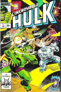Cover Thumbnail for L' Incroyable Hulk (Editions Héritage, 1968 series) #165