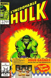 Cover Thumbnail for L'Incroyable Hulk (Editions Héritage, 1968 series) #167