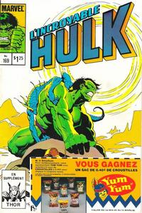 Cover Thumbnail for L' Incroyable Hulk (Editions Héritage, 1968 series) #169