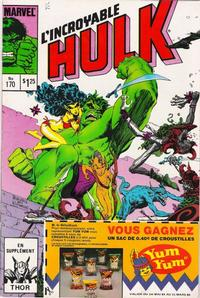 Cover Thumbnail for L'Incroyable Hulk (Editions Héritage, 1968 series) #170
