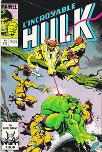 Cover Thumbnail for L' Incroyable Hulk (Editions Héritage, 1968 series) #173