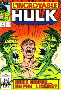 Cover Thumbnail for L' Incroyable Hulk (Editions Héritage, 1968 series) #175