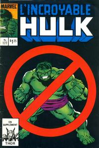 Cover Thumbnail for L'Incroyable Hulk (Editions Héritage, 1968 series) #177