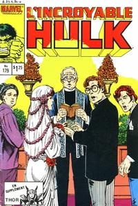 Cover Thumbnail for L' Incroyable Hulk (Editions Héritage, 1968 series) #179