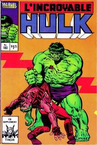 Cover Thumbnail for L' Incroyable Hulk (Editions Héritage, 1968 series) #180