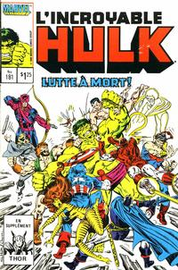 Cover Thumbnail for L'Incroyable Hulk (Editions Héritage, 1968 series) #181