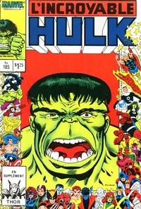 Cover Thumbnail for L' Incroyable Hulk (Editions Héritage, 1968 series) #185