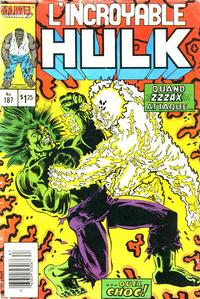Cover Thumbnail for L'Incroyable Hulk (Editions Héritage, 1968 series) #187