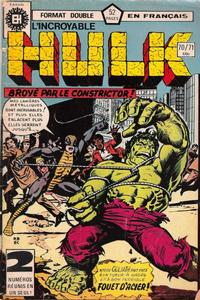 Cover Thumbnail for L'Incroyable Hulk (Editions Héritage, 1968 series) #70/71