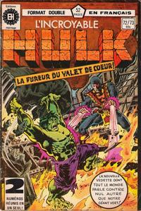 Cover Thumbnail for L'Incroyable Hulk (Editions Héritage, 1968 series) #72/73