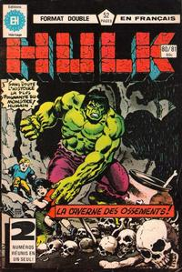 Cover Thumbnail for L' Incroyable Hulk (Editions Héritage, 1968 series) #80/81