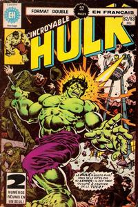 Cover Thumbnail for L' Incroyable Hulk (Editions Héritage, 1968 series) #82/83