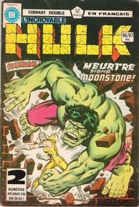 Cover Thumbnail for L'Incroyable Hulk (Editions Héritage, 1968 series) #86/87