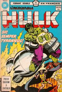 Cover Thumbnail for L'Incroyable Hulk (Editions Héritage, 1968 series) #100/101