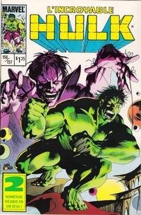 Cover Thumbnail for L'Incroyable Hulk (Editions Héritage, 1968 series) #156/157