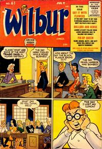 Cover Thumbnail for Wilbur Comics (Archie, 1944 series) #61