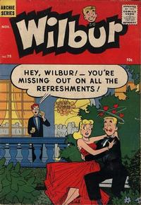 Cover for Wilbur Comics (Archie, 1944 series) #75