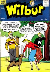Cover for Wilbur Comics (Archie, 1944 series) #76
