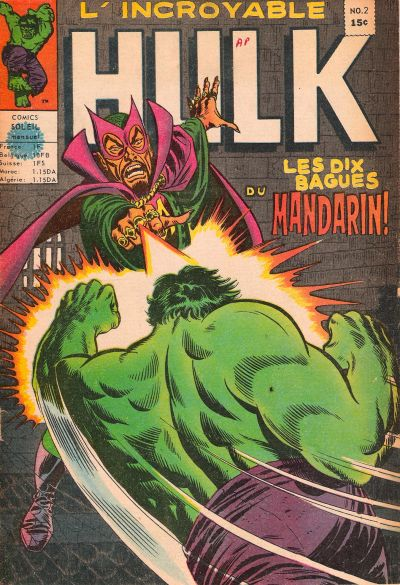 Cover for L' Incroyable Hulk (Editions Héritage, 1968 series) #2