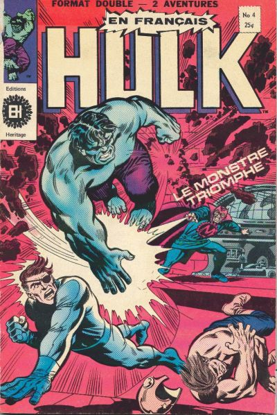 Cover for L' Incroyable Hulk (Editions Héritage, 1968 series) #4
