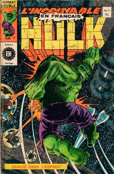 Cover for L'Incroyable Hulk (Editions Héritage, 1968 series) #5
