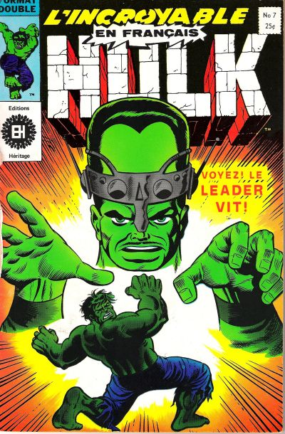 Cover for L' Incroyable Hulk (Editions Héritage, 1968 series) #7