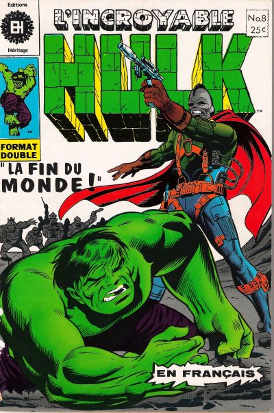 Cover for L' Incroyable Hulk (Editions Héritage, 1968 series) #8