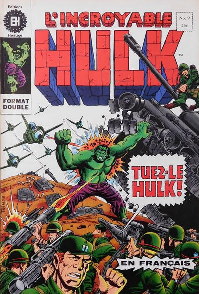 Cover for L'Incroyable Hulk (Editions Héritage, 1968 series) #9